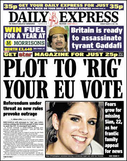 "PLOT TO ""RIG"" YOUR EU VOTE"