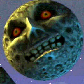 The moon from Majora's Mask